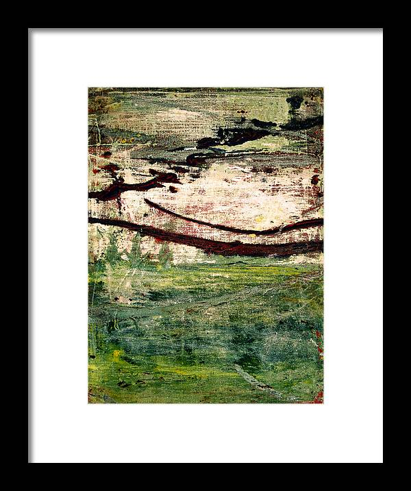 Green Framed Print featuring the painting Hidden Treasures by Natalie Starnes