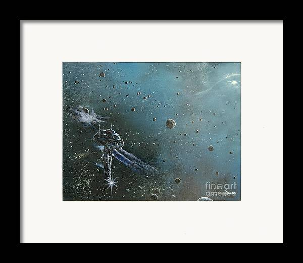 Astro Framed Print featuring the painting Hiding In The Field by Murphy Elliott