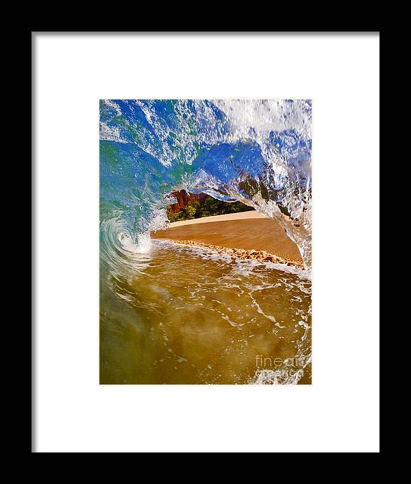 Waves Framed Print featuring the photograph High And Tight by Justin Barlahan
