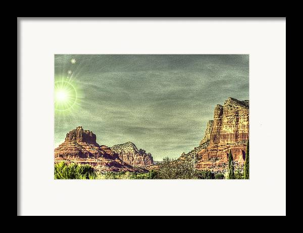 Sandstone Framed Print featuring the photograph High Country by Dan Stone