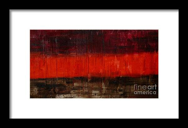 Abstract Framed Print featuring the painting High Energy by Silvana Abel