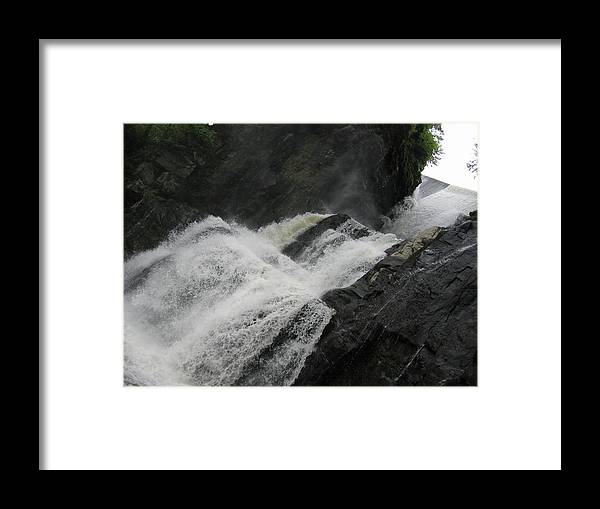 Waterfall Framed Print featuring the photograph High Falls by Patricia Trudell