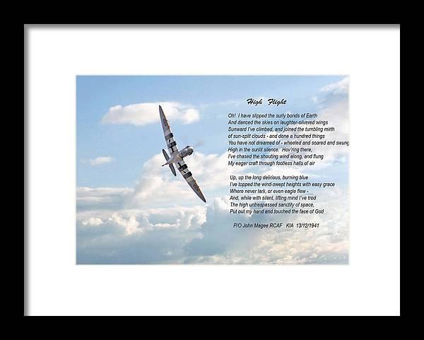 Aircraft Framed Print featuring the digital art High Flight by Pat Speirs