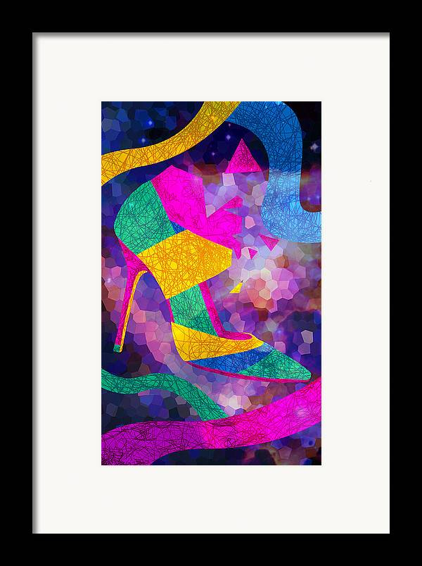 High Heels Framed Print featuring the drawing High Heels On Ropes by Kenal Louis