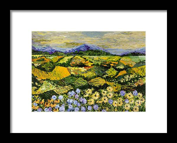 Landscape Framed Print featuring the painting High Journey by Allan P Friedlander