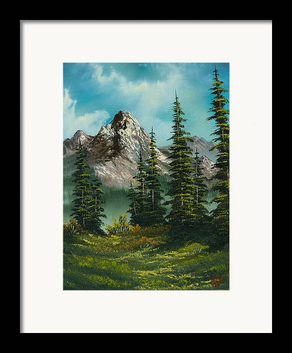 Landscape Framed Print featuring the painting High Meadow by C Steele