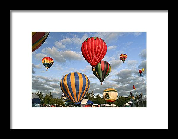 High On Hot Air Framed Print featuring the photograph High On Hot Air by Wes and Dotty Weber