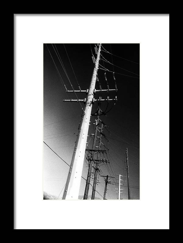 High Framed Print featuring the photograph High Voltage by Mike Greco