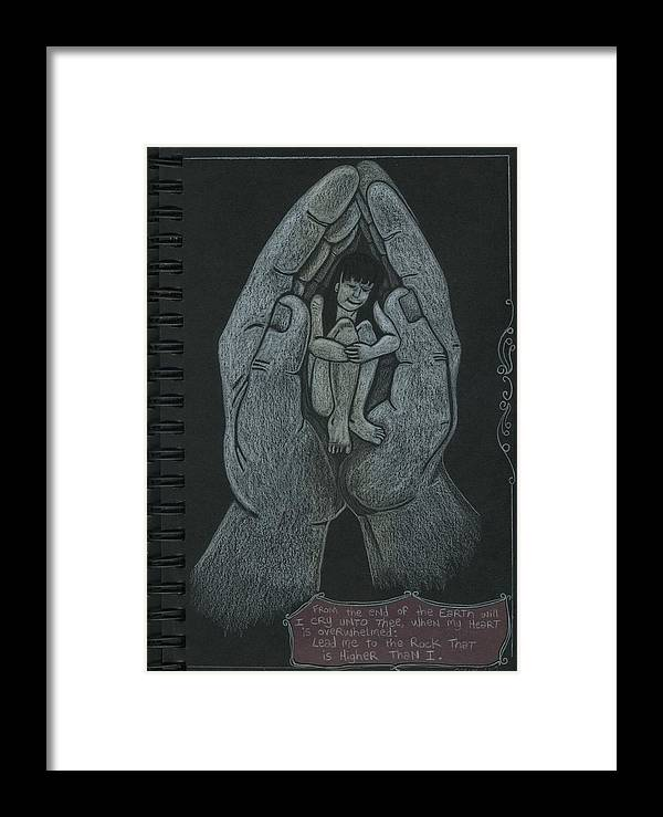 Jesus Framed Print featuring the drawing Higher Than I by Jeremiah Dirt