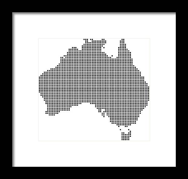 Australia Map Vector.Highly Detailed Australia Map Dots Dotted Australia Map Vector Outline Pixelated Australia Map In Black And White Illustration Background Framed