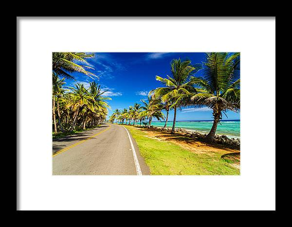 Bay Framed Print featuring the photograph Highway And Coast by Jess Kraft