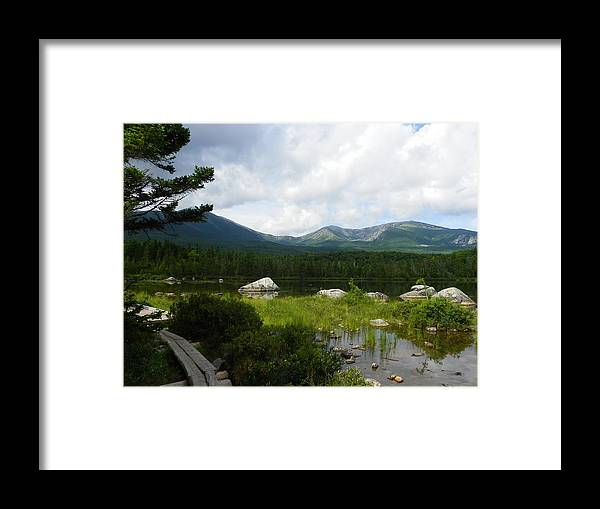 Baxter State Park Framed Print featuring the photograph Hiker's Reward by Georgia Hamlin