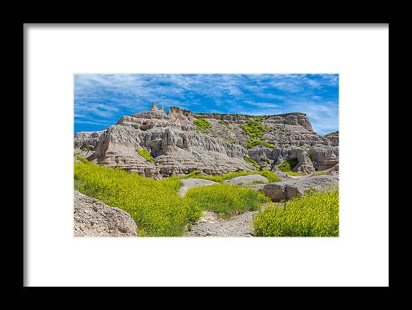 Landscape Framed Print featuring the photograph Hiking In The Badlands by John M Bailey