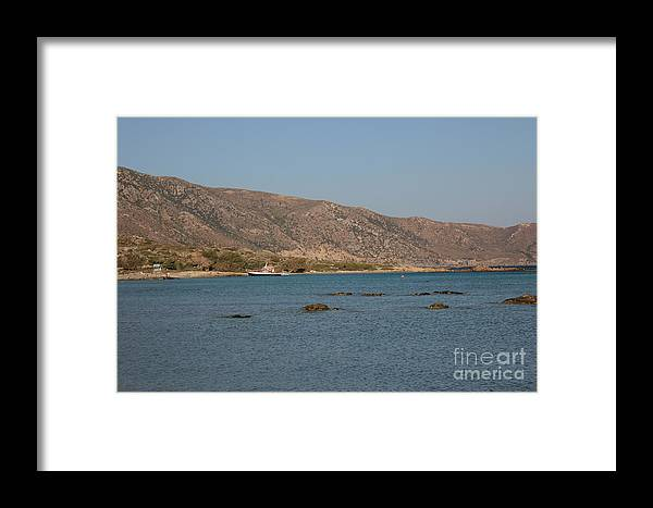 Mediterranean Framed Print featuring the photograph Boat In The Mediterranean by Sk