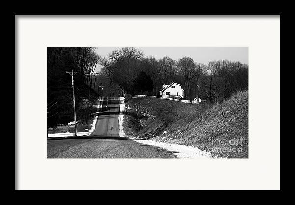 Rural America Framed Print featuring the photograph Hilly House by Charlie Spear