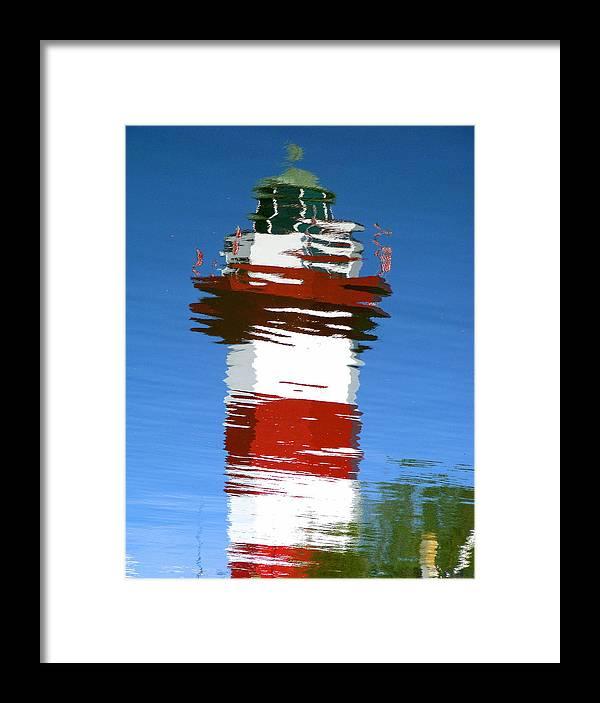 Hilton Head Framed Print featuring the photograph Hilton Head Lighthouse Reflection by Duane McCullough