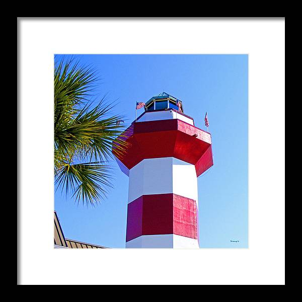Hilton Head Framed Print featuring the photograph Hilton Head Lighthouse Upclose by Duane McCullough