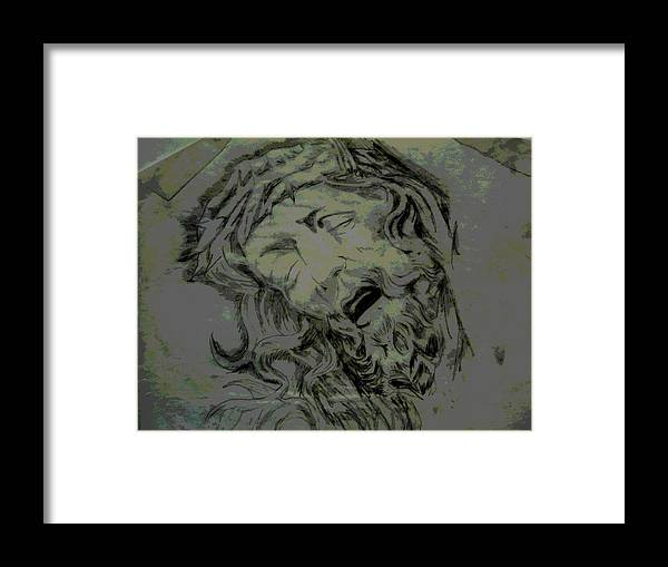 Religious Framed Print featuring the digital art Him by Chad Milburn
