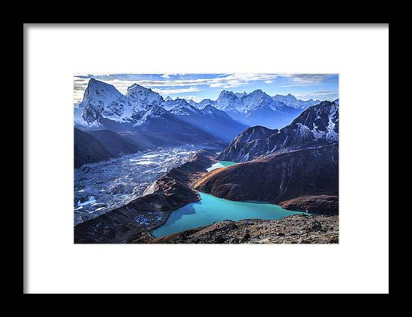 Tranquility Framed Print featuring the photograph Himalaya Landscape, Gokyo Ri by Feng Wei Photography