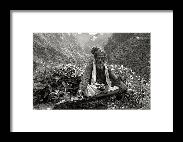 Portrait Framed Print featuring the photograph Himalayan by CoSurvivor