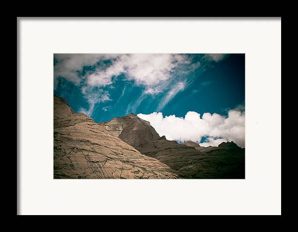 Landscape Framed Print featuring the photograph Himalyas Mountains In Tibet With Clouds by Raimond Klavins
