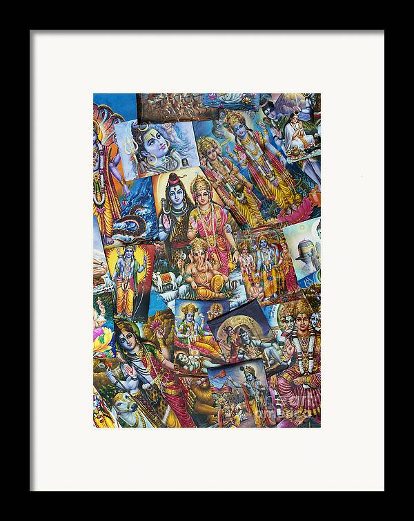 Hindu Poster Framed Print featuring the photograph Hindu Deity Posters by Tim Gainey