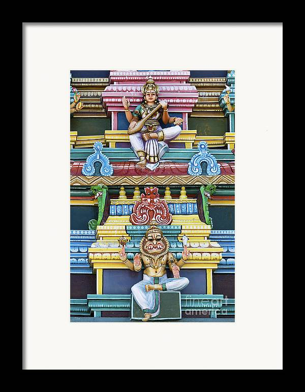 Gods Framed Print featuring the photograph Hindu Temple Deity Statues by Tim Gainey