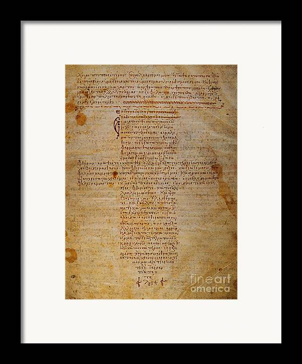 Hippocratic Oath Framed Print featuring the photograph Hippocratic Oath by Granger