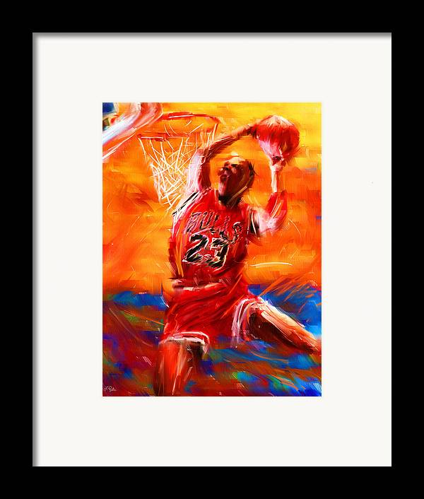 Basketball Framed Print featuring the digital art His Airness by Lourry Legarde