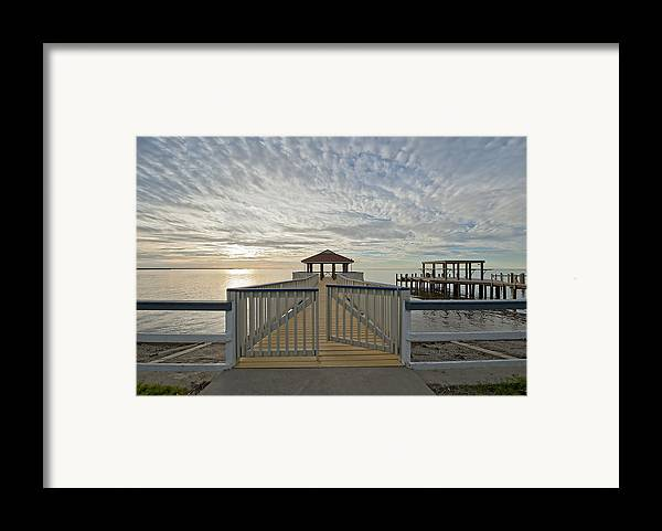 Pier Framed Print featuring the photograph His Mercies Begin Fresh Each Morning by Bonnie Barry