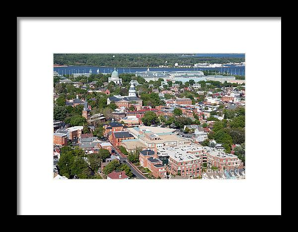 Historic District Framed Print featuring the photograph Historic Annapolis Maryland by Bill Cobb
