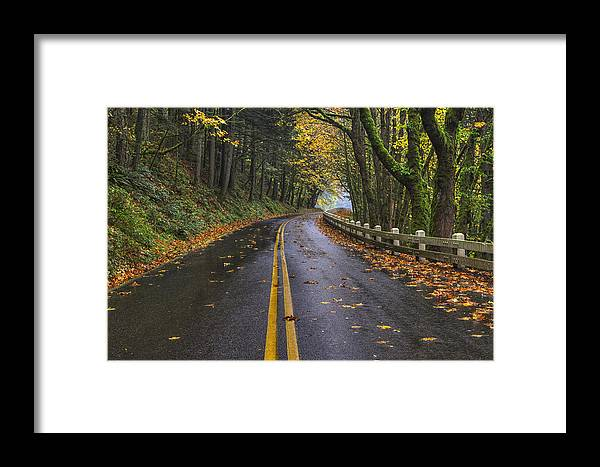 Oregon Framed Print featuring the photograph Historic Columbia River Highway by Mark Kiver
