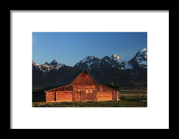 Grand Teton National Park Framed Print featuring the photograph Historic Moulton Barn by Nancy Wolfe