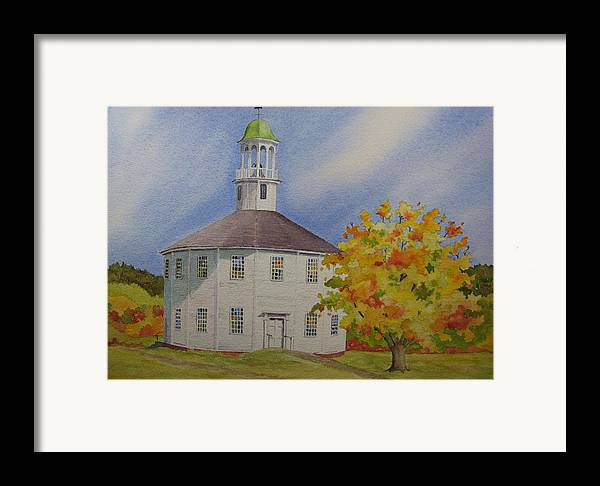 Richmond Framed Print featuring the painting Historic Richmond Round Church by Mary Ellen Mueller Legault