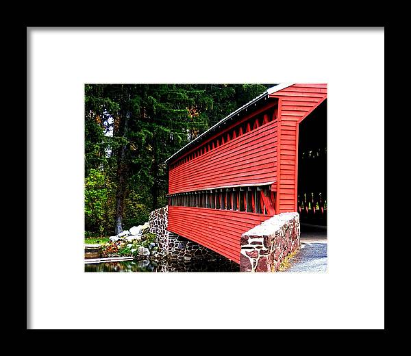 Gettysburg Framed Print featuring the photograph Historic Sach's Covered Bridge by William Fox