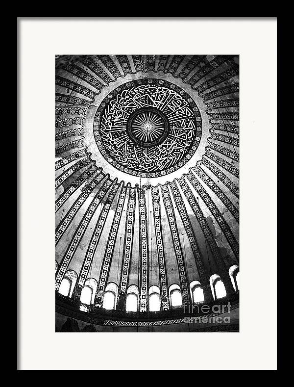 Historic Sophia Ceiling Framed Print featuring the photograph Historic Sophia Ceiling by John Rizzuto