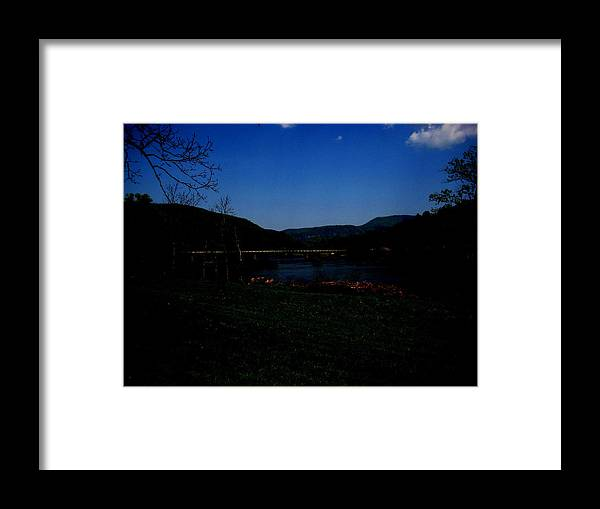 Hiwassee River Framed Print featuring the photograph Hiwassee At Night by Robin Vargo