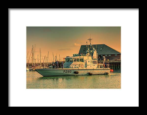 Naval Framed Print featuring the photograph Hms Dasher P280 by David Attenborough