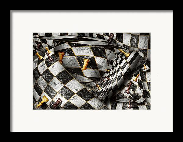 Chess Framed Print featuring the digital art Hobby - Chess - Your Move by Mike Savad
