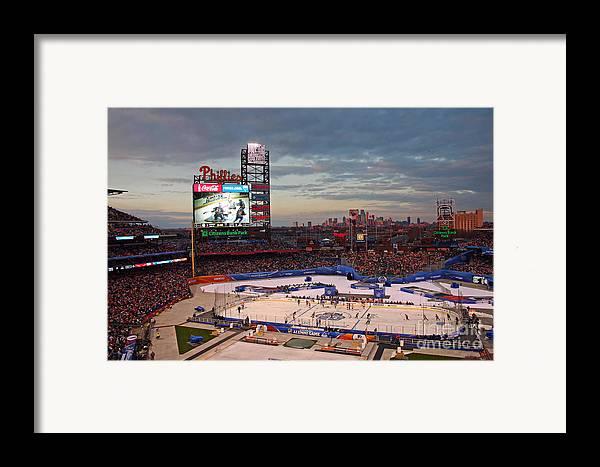 Hockey Framed Print featuring the photograph Hockey At The Ballpark by David Rucker