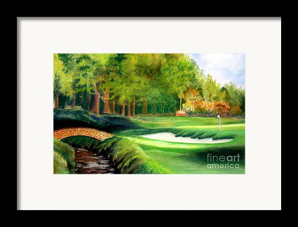 Golf Framed Print featuring the pastel Hole Number10 by Lamarr Kramer