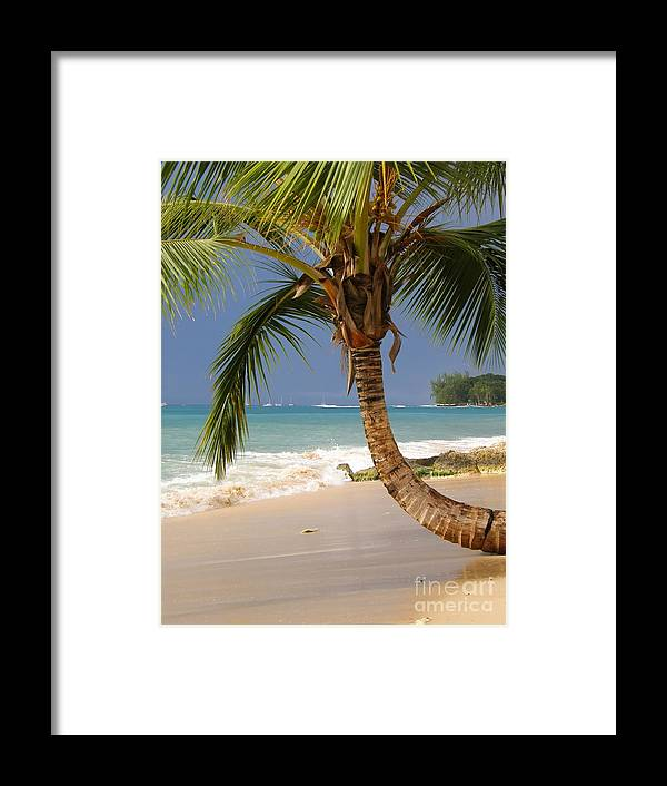 Holetown Framed Print featuring the photograph Holetown Beach by Sophie Vigneault