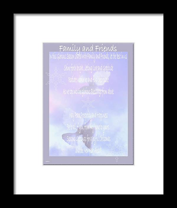Holiday Family Friends Poem Framed Print By Debra Vatalaro