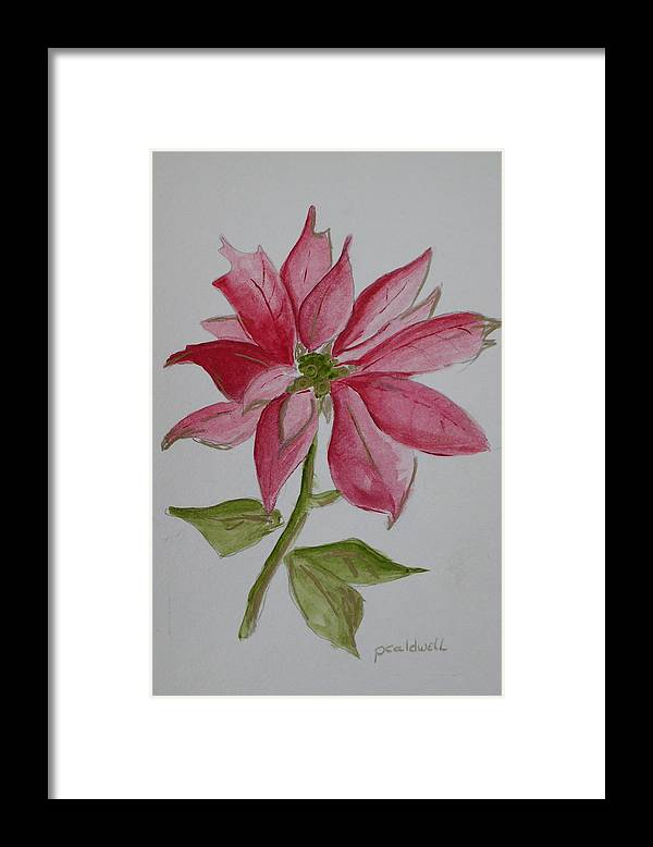 Flower Christmas Framed Print featuring the painting Holiday Flower by Patricia Caldwell