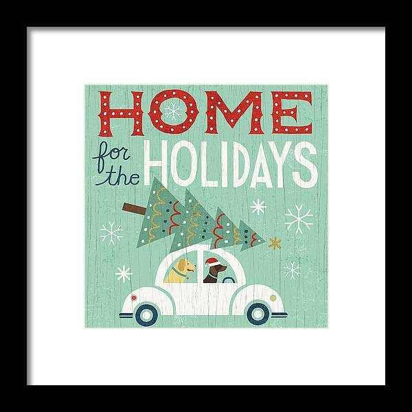 Animals Framed Print featuring the painting Holiday On Wheels I by Michael Mullan