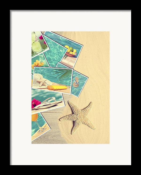 Sand Framed Print featuring the photograph Holiday Postcards by Amanda Elwell