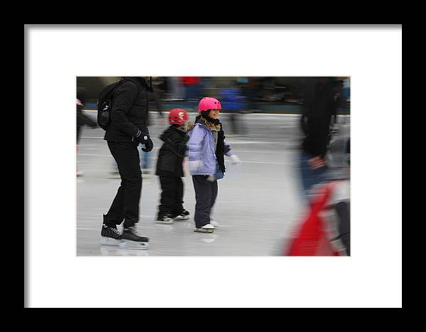 Skating Framed Print featuring the photograph Holiday Skate by Anne Barkley