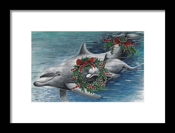 Designs Framed Print featuring the painting Holiday Smile by Joy Bradley