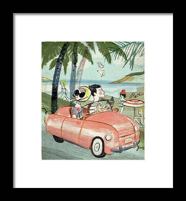 Transfer Print Framed Print featuring the digital art Holidays by Luciano Lozano