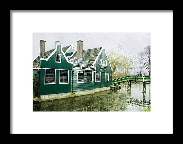 Zaanse Schans Framed Print featuring the photograph Holland House by Sarka Olehlova